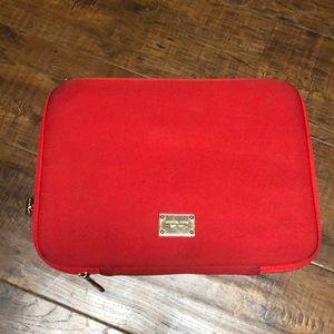 Red Michael Kors Macbook Laptop Sleeve Case